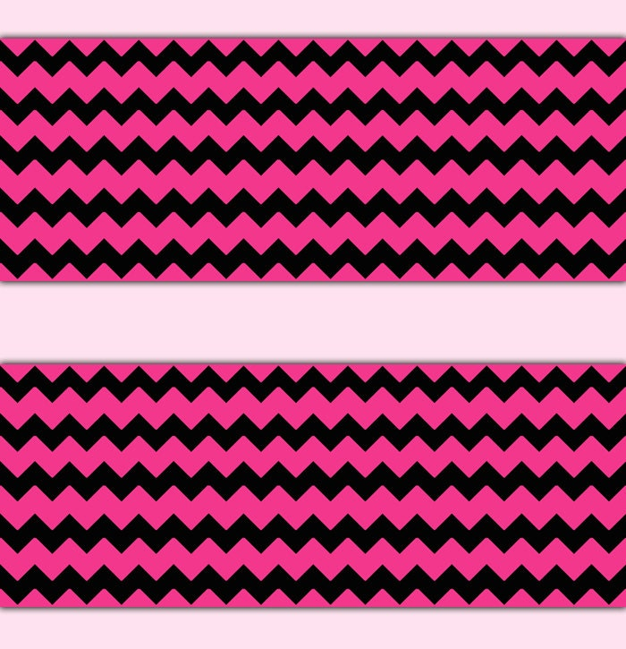 hot pink chevron wallpaper border wall art decal teen girls