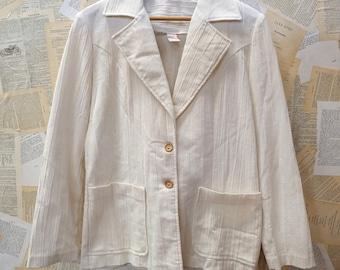 Vintage Cream Linen Jacket