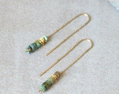 Turquoise earrings; gold threader earrings; turquoise earrings gold; threader earrings; gold thread earrings; holiday sale