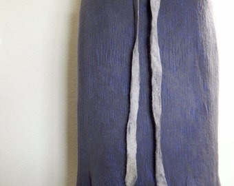 Nuno Felted Wrap Skirt for everyday Art Wear,Wool Felted Skirt, Wool Wrap Skirt,Sustainable clothing,Slow Fashion, Slow design- momoish made