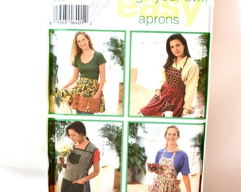 UNCUT Simplicity Pattern 9333 for Misses Set of Aprons size S-M-L bust 32.5 to 42
