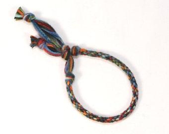 Kumihimo Mens Bracelet Blend of Masculine Colors Fibre Jewelry