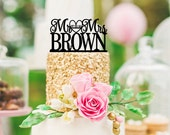Personalized Mr and Mrs Wedding Cake Topper with YOUR Last Name and Wedding Date