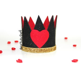 Queen of Hearts Crown // Alice in Wonderland Crown // QOH Crown // Crown Headband // by Born TuTu Rock