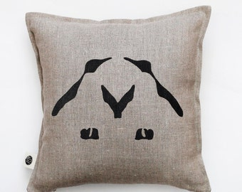 Couple pillow. Decorative pillow for home decor idea with penguin couple print - throw pillows for interior decor 0322