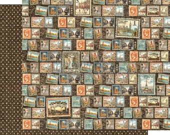 """Graphic 45 """"Cityscapes - Well Traveled"""" 12 x 12 Double-sided sheet"""
