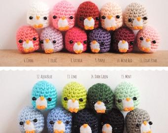 Penguin doll, made to order. Choose color, penguin Keychain, Desk decor, kawaii keychain, stocking stuffer, christmas gift