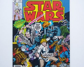 "Marvel Star Wars Comic #2 ""Six Against The Galaxy"" - 1977 Star Wars - NM (9.7)"