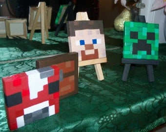 Mini Canvas Works of Art *Minecraft Series* 3x3'' w/ Easel