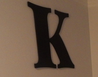 Oversized Letter, Wooden Letters K 24 inch Black Sign Large Letters Kids Room, Nursery Wall Decor Wood Initial