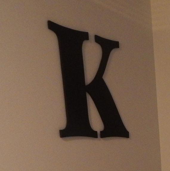 Items similar to oversized letter wooden letters k 24 for Large black wooden letters