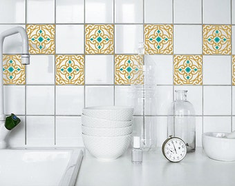 moroccan tile repeatable pattern decals wall decal custom vinyl art stickers for homes kitchens