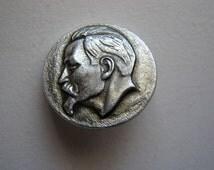 Vintage soviet union  USSR pin badge KGB founder Felix Dzerzhinsky