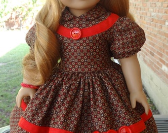 """RESERVED LISTING 18"""" Doll Clothes 1950's Style Dress For Fall Fits American Girl Maryellen"""
