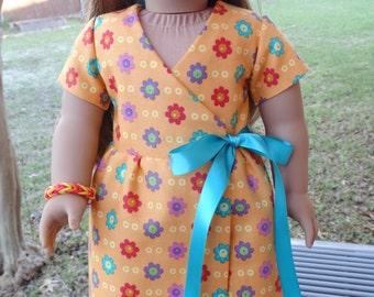 "18"" Doll Clothes Tropical Orange Maxi Dress Fits American Girl Lea Clark!"