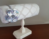 Custom Headband Holder Organizer with Textured Ivory Lattice Stand by Everlastings By Sue