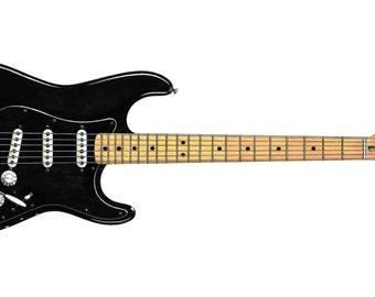David Gilmour's Black Strat Greeting Card, DL size