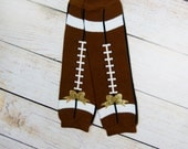 Baby Girl Football Glitter Bow Leg Warmers Leggings Baby Girl Clothes Choose Color Bows Newborn or Baby Size