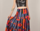 15% OFF Boho Ikat Print Circle Skirt Southwest