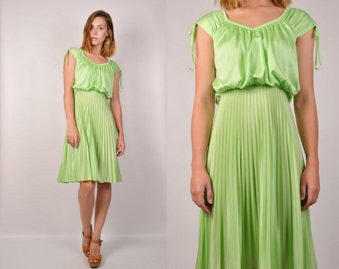 70's Mint Green Sun Dress vintage