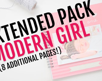 Extended Pack for Modern Girl Baby Book // 8 Additional Pages!