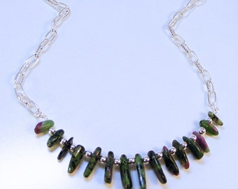 RUBY ZIOSITE SILVER Necklace