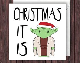 Dobby Xmas. Harry Potter Christmas Card. Geek Blank Card.
