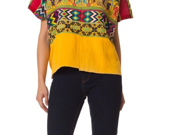 Vintage 1970s Peruvian Hand Embroidered Top  Size: S/M/L/XL