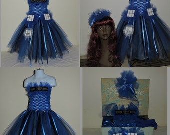 custom made child police box cosplay costume Doctor who Tardis inspired