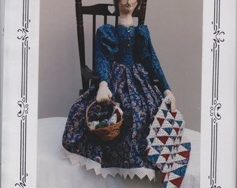 Myrtle Edna from Ozark County Quilt Factory - A 23 Inch Cloth Doll by Virginia Robertson - A Decorative Country Doll