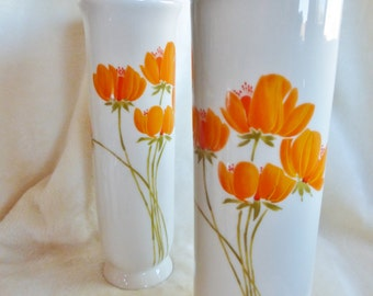 Gibson japan etsy set of two otagiri bud vases designed by gibson greeting cards inc and made m4hsunfo Choice Image