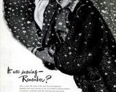 1946 Hollander Furs Winter Fashion Christmas Decoration Frederic Varady Art December Baby, It's Cold Outside Romantic Mistletoe Kissing Sign
