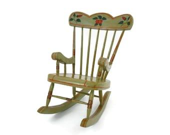1935 Miniature Rocking Chair Albert W Cunnius Berks County Pa Folk Art Primitives