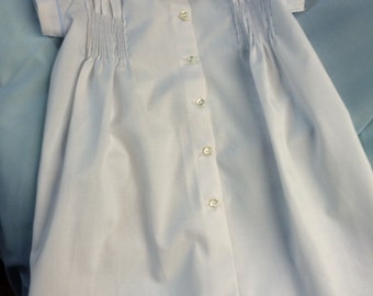 Handmade Ready to Smock Boy's Day Gown NB size