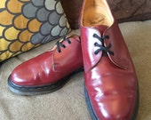 VINTAGE Dr. Martens Cherry 1461 Made In England LEATHER OXFORDS uk 7