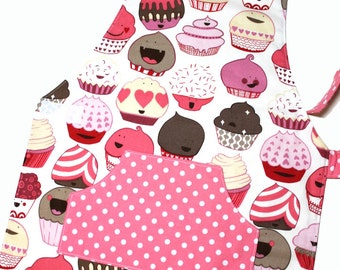 CUPCAKES Montessori Toddler/Child Apron made to order