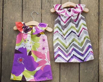 Chevron Dress, Purple, baby girls, girls dress, purple, fall dress, boho eggplant dress, shelby jane, coordinating dress
