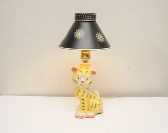 Tiger Lamp Ceramic Metal Daisy Shade