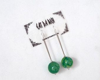 Bouncy Ball Earrings // Handmade // OOAK