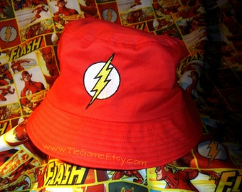 The Flash Embroidered Bucket Hat - N0T A GLUE-0N PATCH!