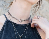 Choker Necklace, Silver Choker Necklace, Necklace Choker, Neck Choker, Womens Choker Necklace, Choker Jewelry, Punk Necklace Collar Necklace