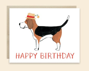 items similar to th birthday card, dog lover birthday card, Birthday card
