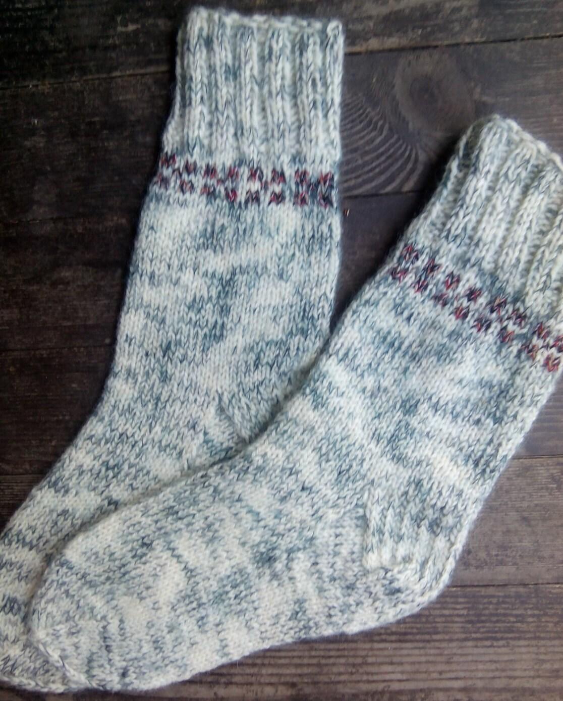 SALE Hand Knit Wool Socks Colorful Wool Socks for Men Mens
