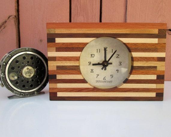 Clock Desk Clock Nightstand Clock Butcher Block by TanteandOom