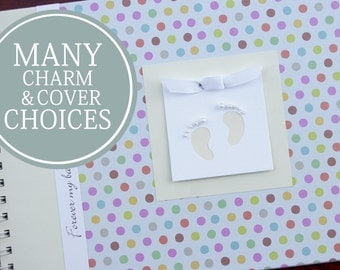 Baby Record Book | Baby Journal | Memory Book Baby | Boy | Girl | Record Book | Gender Neutral |Personalized Baby Album | Pastel Polka Dots
