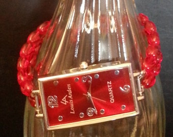 SALE: Red Beaded Watchlet