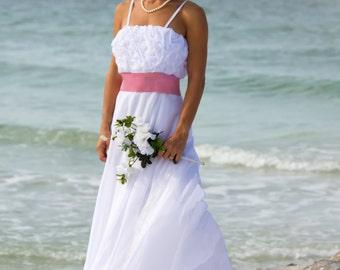 chiffon full circle skirt ballgown tucked bodice with Swarovski crystals