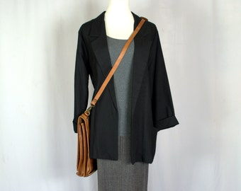 80's Jacket Large 90's Jacket Large 80's Blazer 90's Blazer Black Blazer Black Jacket Slouchy Blazer Minimalist Clothing Made In USAt D