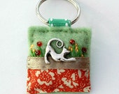 Cat keyring - cats - gifts for cat lovers - cat keychain - mothers day gift - hand sewn gifts