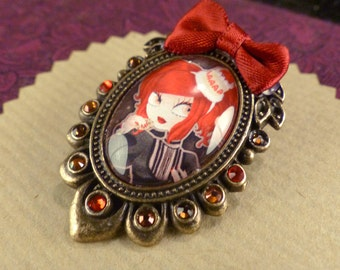Praline brocch with little cookie // Swarovski crystals // yummi lolita